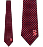 Boston Red Sox Ties Mens Diamante Necktie by Eagles Wings