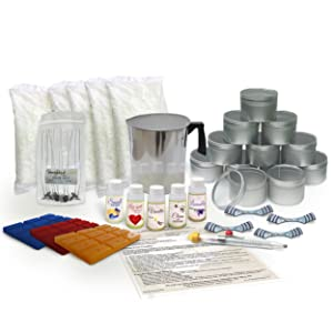 Soy Wax Large Candle Making Kit- With 5 lbs of Wax, Scent and Wax Dye