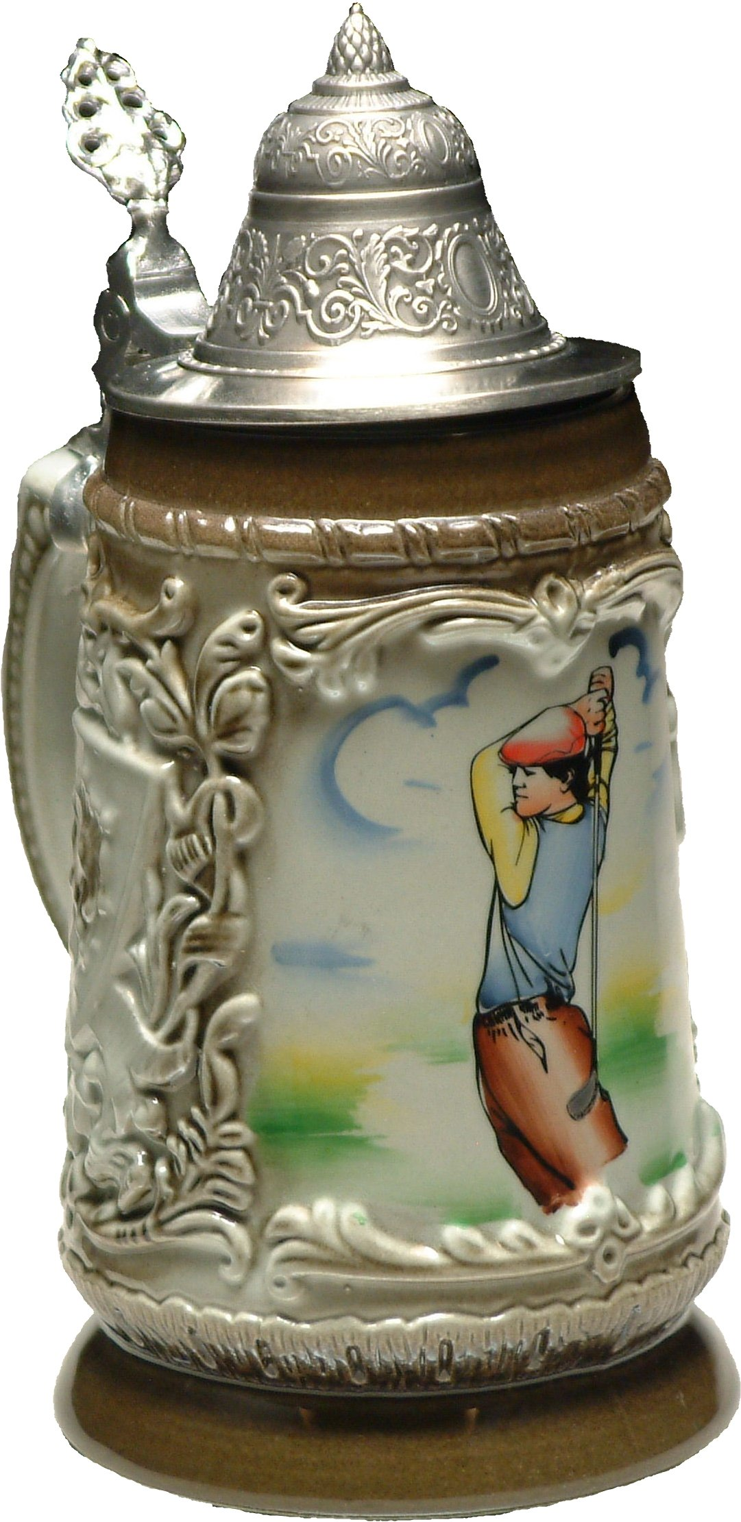 Beer Stein by King - Golf Player Shield German Relief Beer Stein (Beer Mug) 0.5l