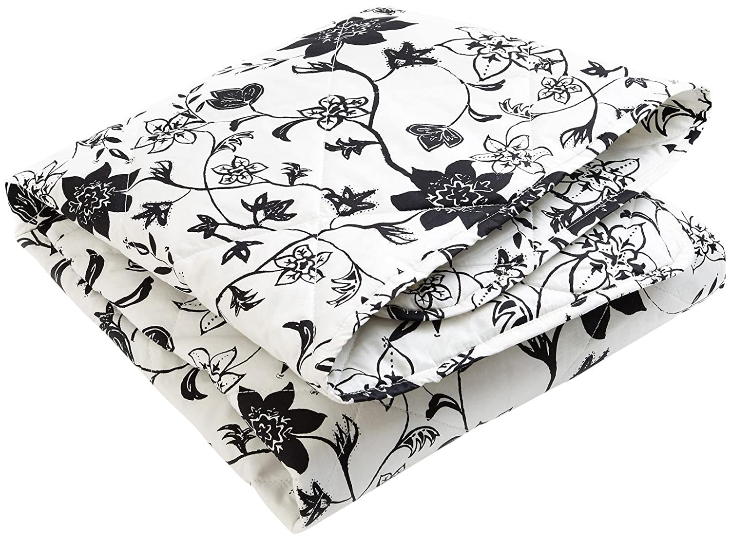 Brooklyn Born Organic Quilt - Modern Floral, Black/White, One Size BBB-004