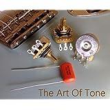Lot of 3 (3X) CTS 450G Series 250K Vintage-style Short Split Shaft Audio Taper Potentiometers w/ Sprague Orange Drop .047uf/400v cap