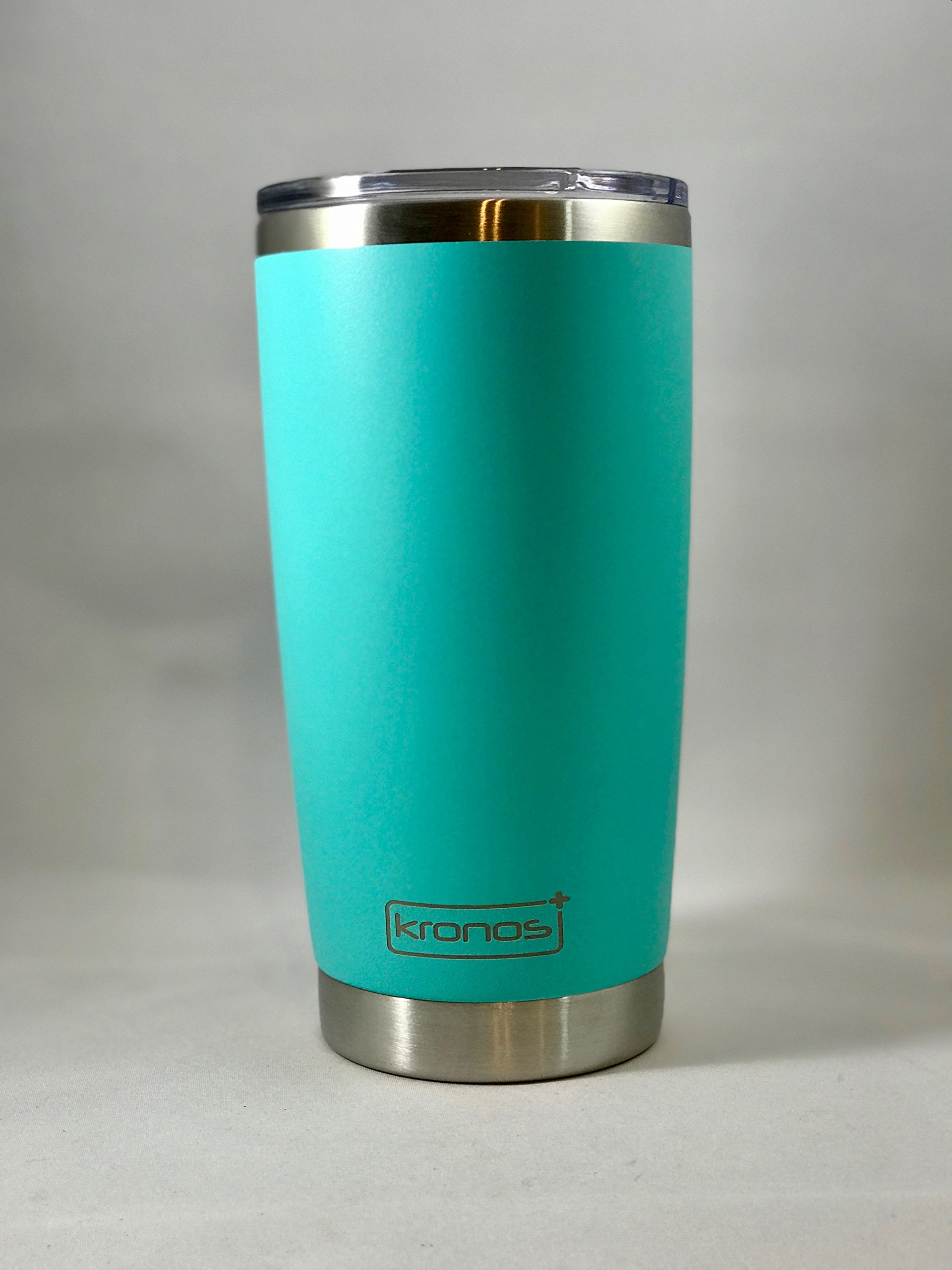 ( SEA FOAM ) Dishwasher Safe 20 oz Vacuum Insulated Thermos with High Quality Matte Finish - Coffee Mug Tumbler by Kronos + (Image #3)