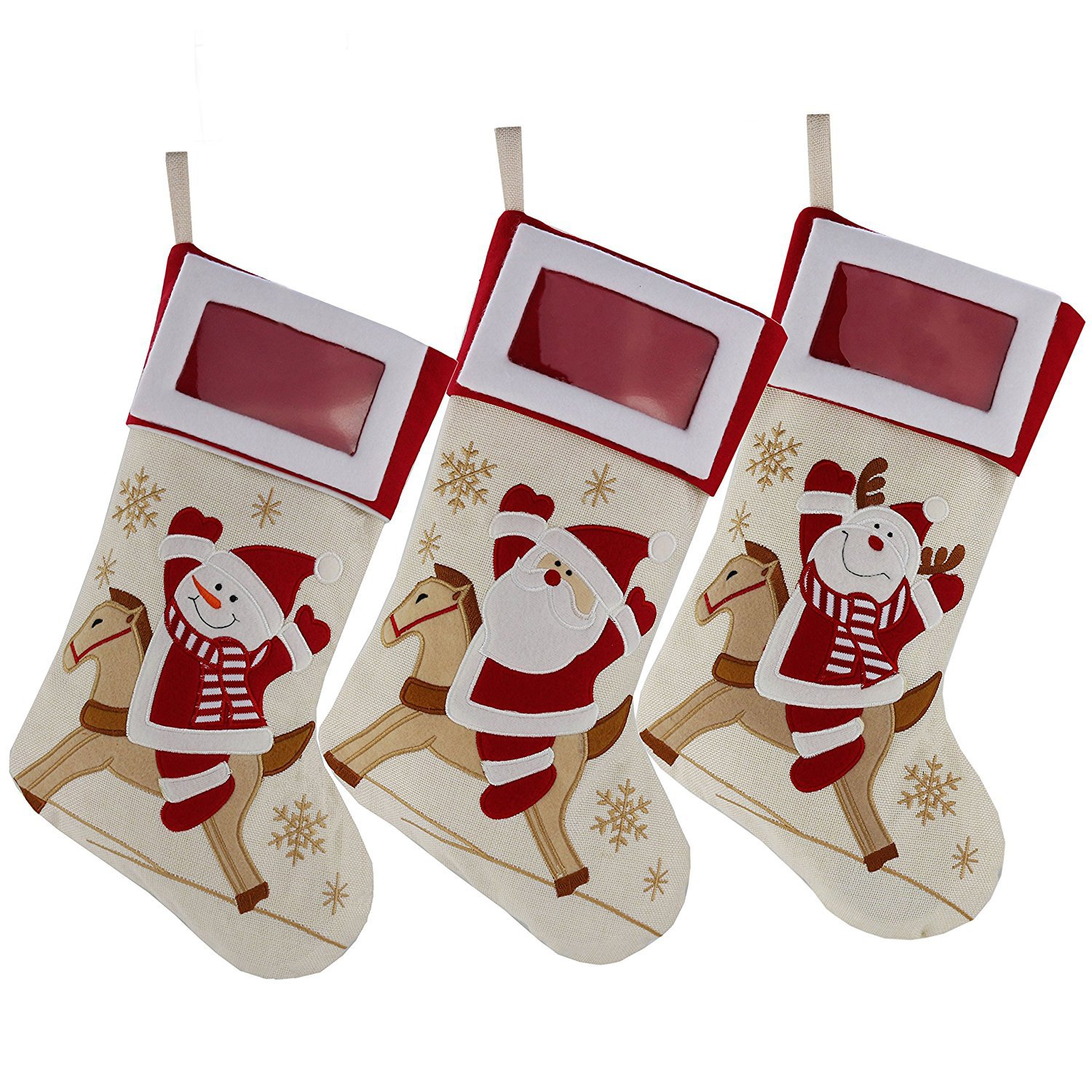 Amazoncom Dearsun Christmas Stockings With Photo Frame 18santa