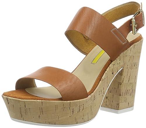 Versilia, Womens Wedge Heel Platform Sandals Manas