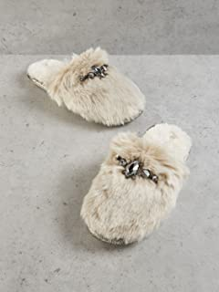 fed73a461bc Pretty You Womens Vogue Faux Fur Mule Slippers in Black Mink  Amazon ...