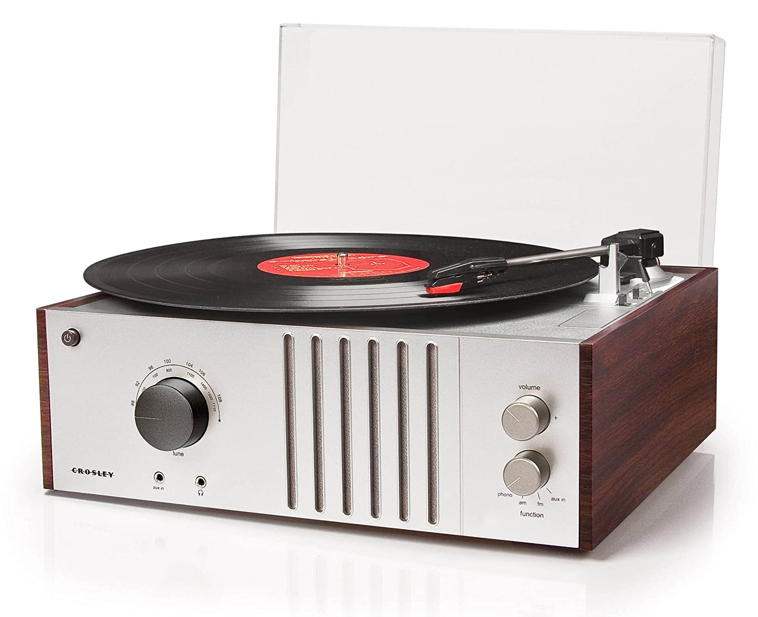 Amazon.com: Crosley CR6017A MA Player Turntable With AM/FM Radio And  Aux In, Mahogany: Home Audio U0026 Theater