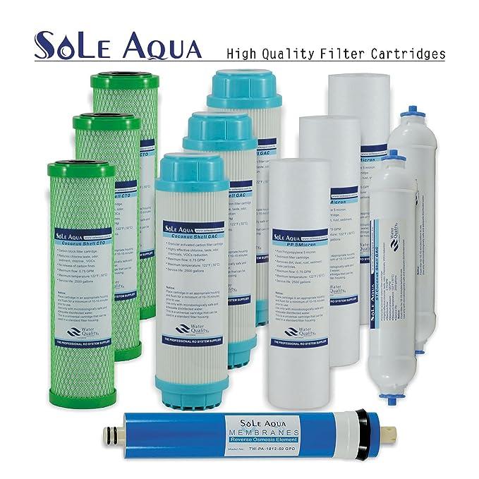 ... agua potable bajo una mesa Sistema de ósmosis inversa filtrating contamination-free con grifo, extra 7 filtros de recambio, TDS Meter, detector de fugas ...