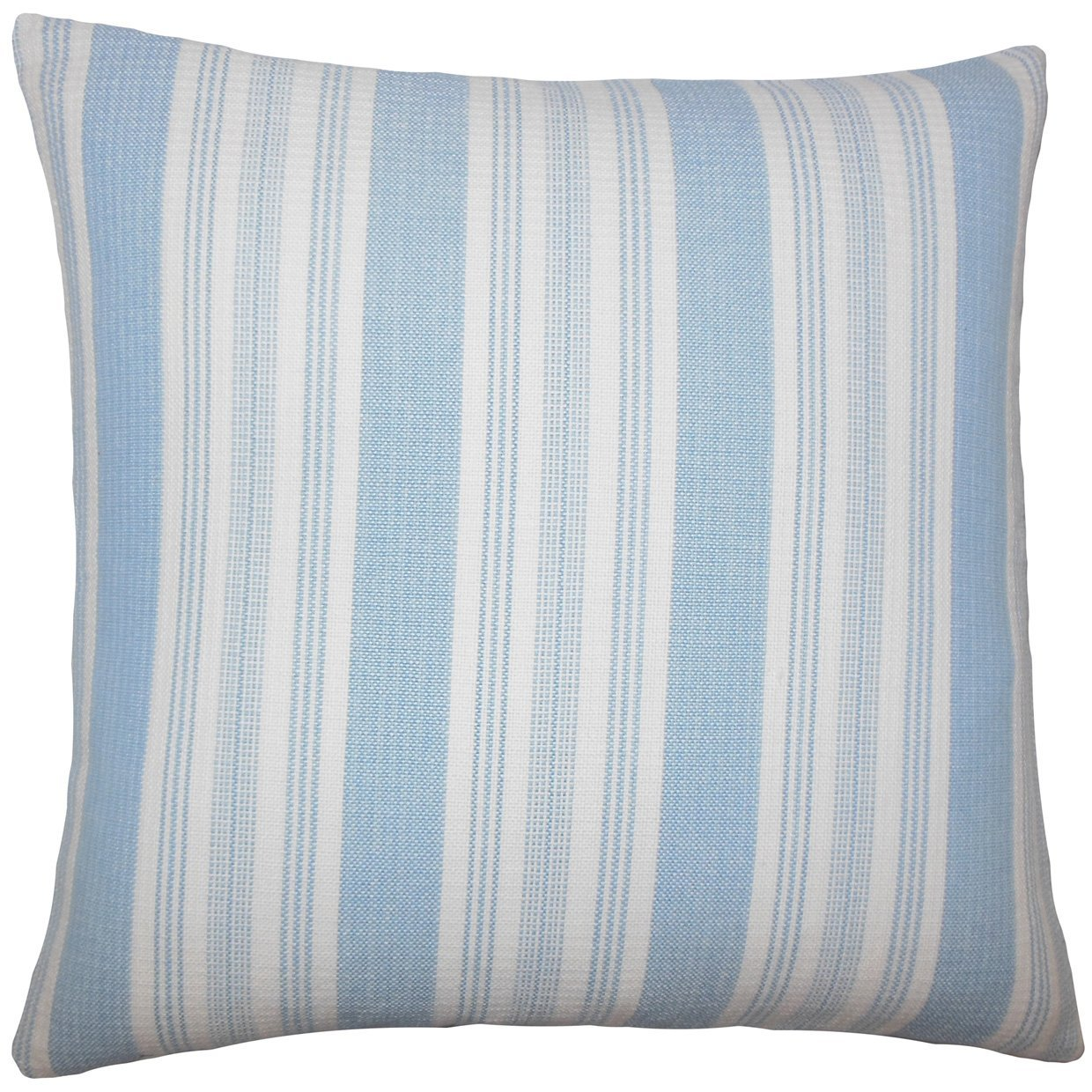 The Pillow Collection KING-D-32805-CHAMBRAY-C100 Reiki Striped Bedding Sham King//20 x 36 Chambray