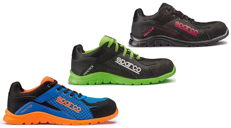 44 Sparco 0751744NRVF Zapatillas Negro//Verde