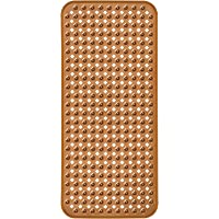 EHZNZIE Bathtub Shower Mat (35x15.5 Inch) Non-Slip and Phthalate Latex Free,Bath tub Mat with Suction Cups,Machine Washable XL Size Bathroom Mats (Brown)