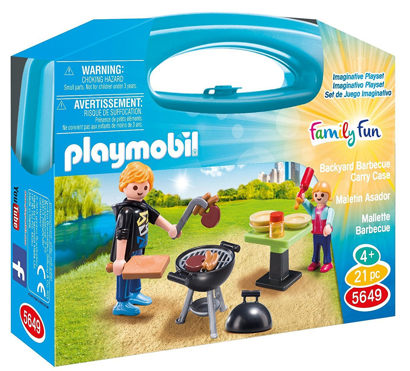 playmobil backyard barbecue carry case - 81lvkwwVQ2L - PLAYMOBIL Backyard Barbecue Carry Case