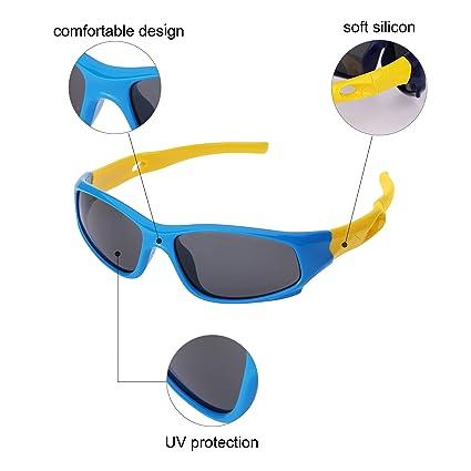 69fd436250 Forepin® Gafas de Sol Niño y Niña (3-12años) Deporte Polarizadas Marco  Flexible Infantiles Ovaladas 100% Protección UV400 (Azul + Amarillo):  Amazon.es: Ropa ...