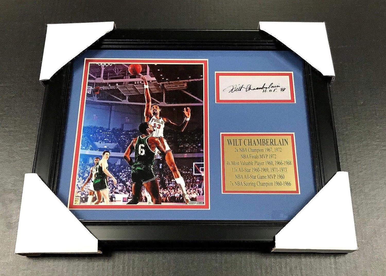 Autographed Wilt Chamberlain Photo - Facsimile Reprint Framed 8x10 - Autographed NBA Photos Baseball Card Outlet