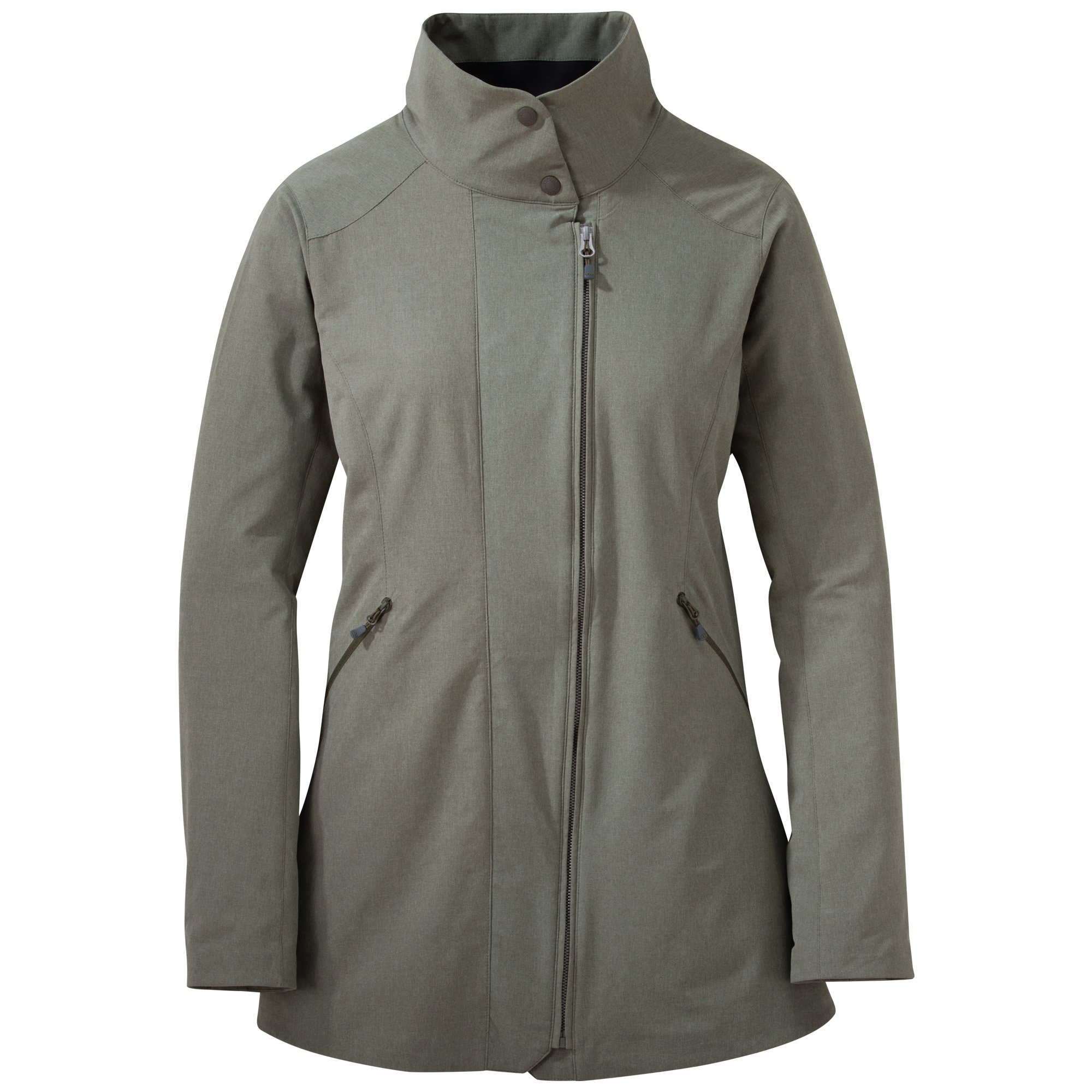 Outdoor Research Women's prologue trench Jacket, Fatigue Heather, Small