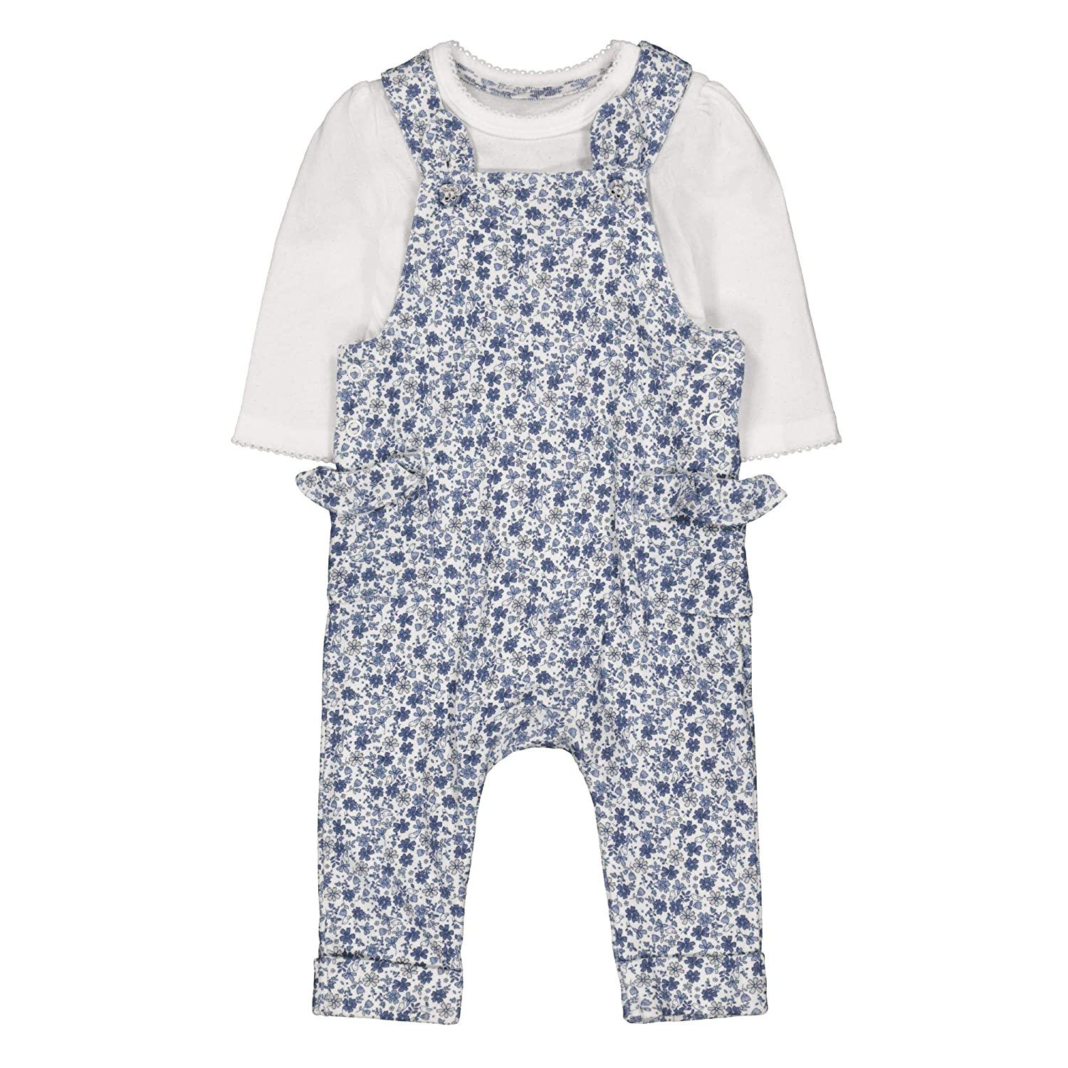 Mothercare Baby Girls' Floral Dungaree Set QD600