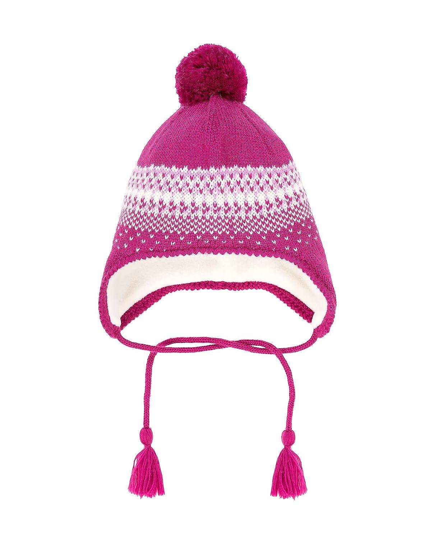Deux par Deux Girls' Ear-flap Hat Frozen Buds, Sizes 18M-14