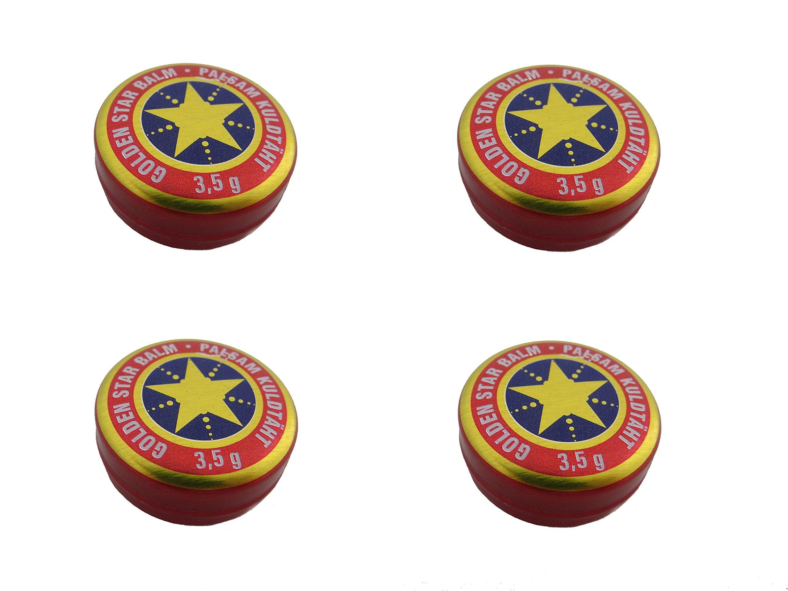 4X (4pcs) 3,5 Gram Golden Star Balm