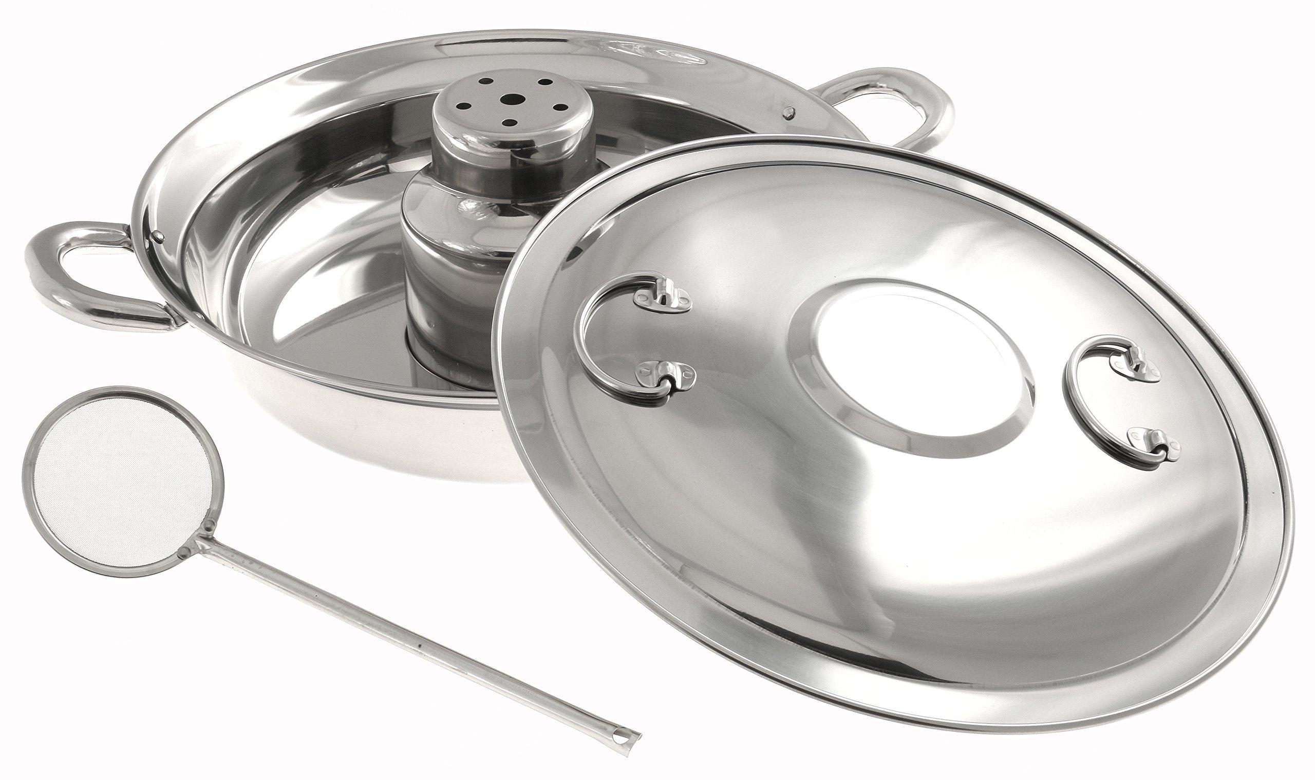 Kotobuki Traditional Japanese Stainless Steel Shabu Pot with Skimmer, Silver by Kotobuki (Image #2)