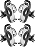 Beam Electronics (4 PACK) Universal Smartphone Car Air Vent Mount Holder Cradle Compatible with iPhone X 8 8 Plus 7 7 Plus SE 6s 6 Plus 6 5s 5 4s 4 Samsung Galaxy S6 S5 S4 LG Nexus Sony Nokia and More
