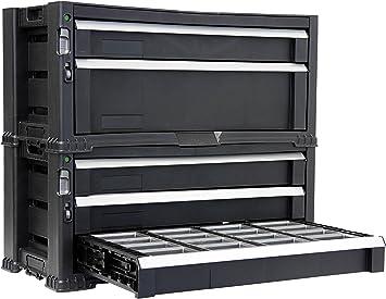 Caja de herramientas con cajones vacíos, caja de herramientas ...
