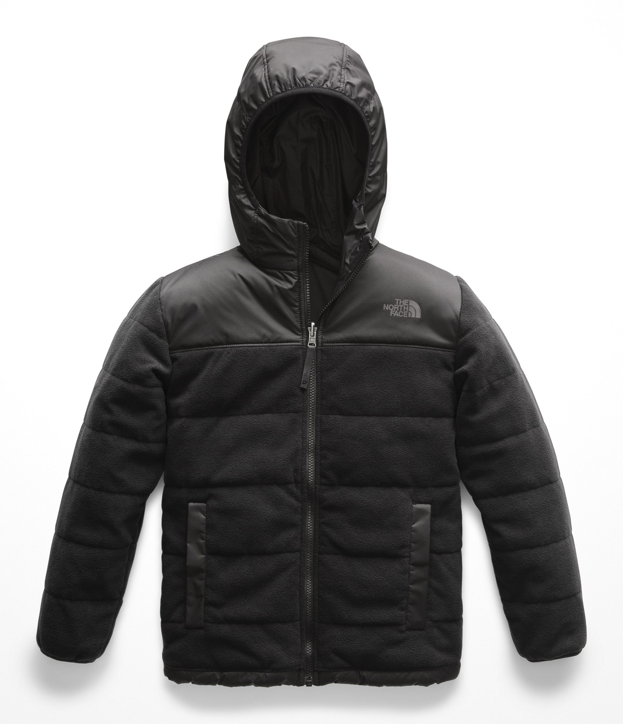 The North Face Boys' Reversible True Or False Jacket, TNF Black/TNF Black - S