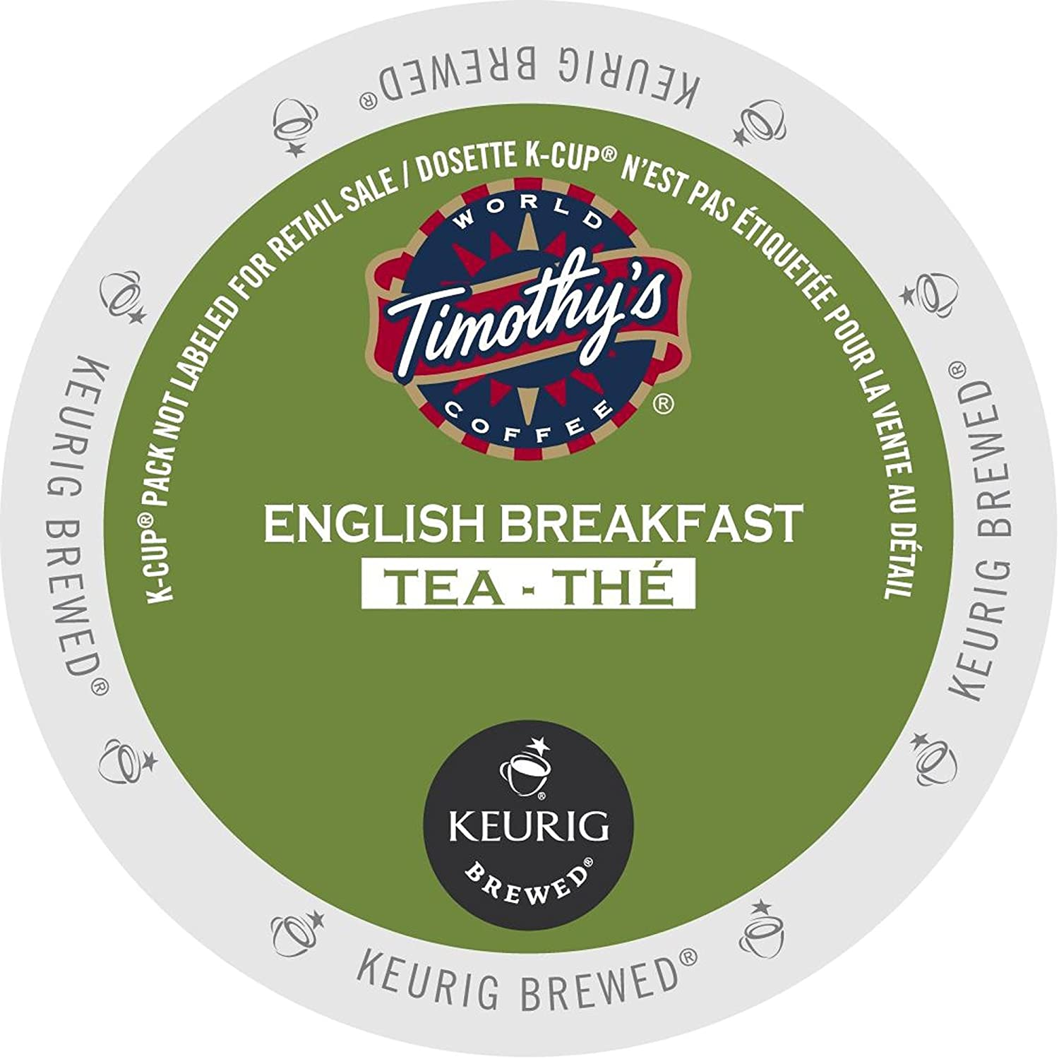 Timothy's Chai Tea Single Serve Keurig Certified K-Cup pods for Keurig brewers, 24 Count 74-01176