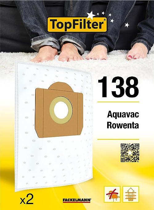 Amazon.com: TopFilter bolsas para aspiradora Rowenta 138, 2 ...