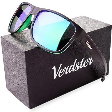 f55403db010 Verdster Mirrored Polarized Sunglasses for Men   Women - Trendy   Stylish  Black Shades - Comes