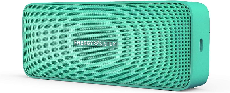 Energy Sistem Music Box 2+ Altavoz portátil con Bluetooth, manos libres y tecnología True Wireless (6W, microSD MP3 Player, FM Radio,Audio-in) - Verde Menta
