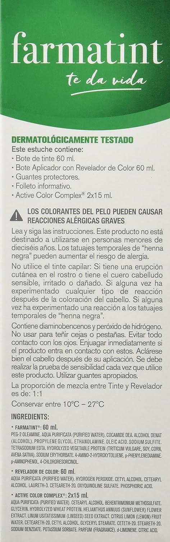 FARMATINT Gel 7M Rubio Caoba   Color natural y duradero   Componentes vegetales y aceites naturales   Sin amoníaco   Sin parabenos   ...