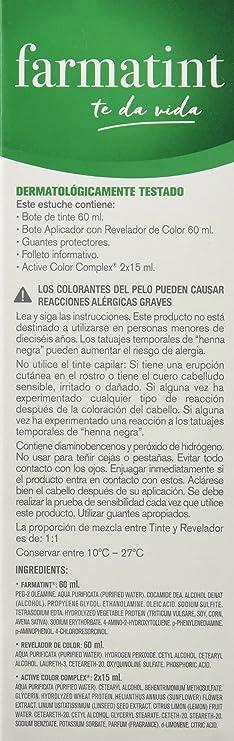 FARMATINT Gel 7M Rubio Caoba | Color natural y duradero | Componentes vegetales y aceites naturales | Sin amoníaco | Sin parabenos | ...