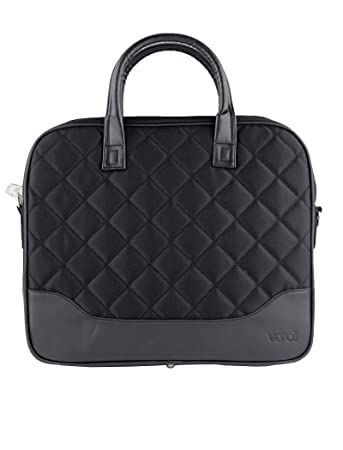 c7ebe279f223 Women Laptop Bag Black -Ladies 2 Handle Laptop Handbags - Briefcase  Business Smart Work Bags 15 inch  Amazon.co.uk  Luggage