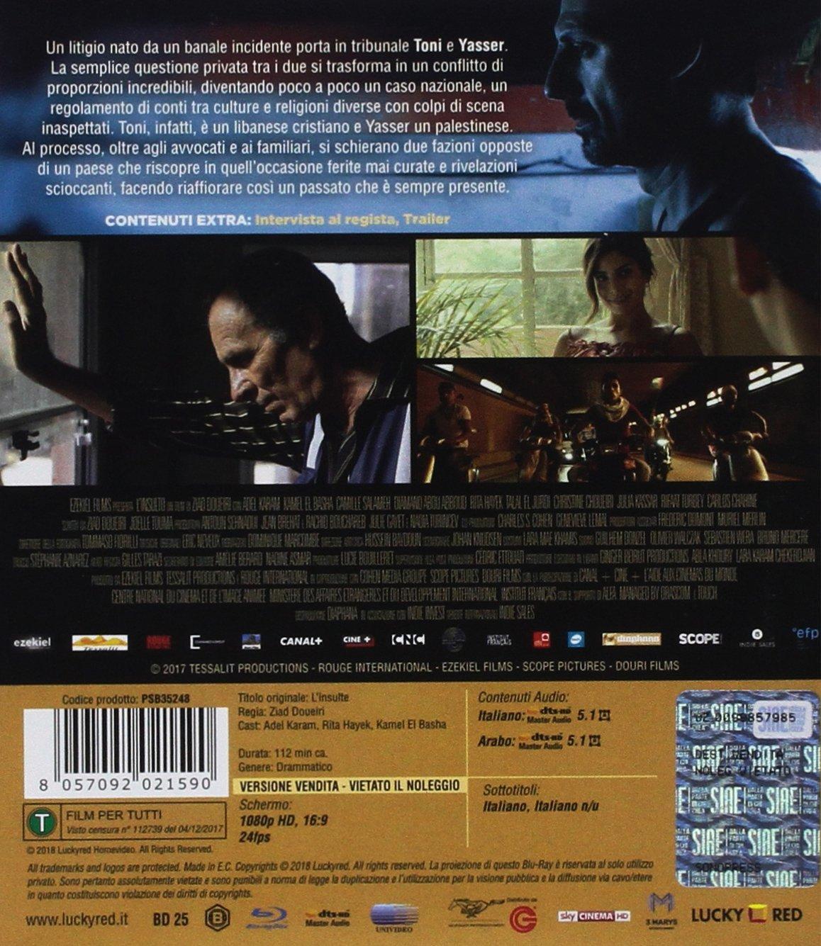 LInsulto (Blu Ray) [Italia] [Blu-ray]: Amazon.es: Kamel El Basha, Adel Karam, Camille Salameh, Ziad Doueiri: Cine y Series TV