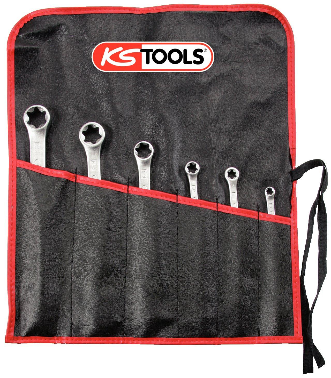 KS Tools 911.0370 CLASSIC TX-E-Doppel-Ringschlü ssel-Satz, 6-tlg. KS-Tools Werkzeuge-Maschine 4042146042922