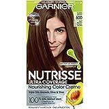 Garnier Nutrisse Ultra Coverage Hair Color, Deep Medium Natural Brown (Glazed Walnut) 500 (Packaging May Vary), Pack of…