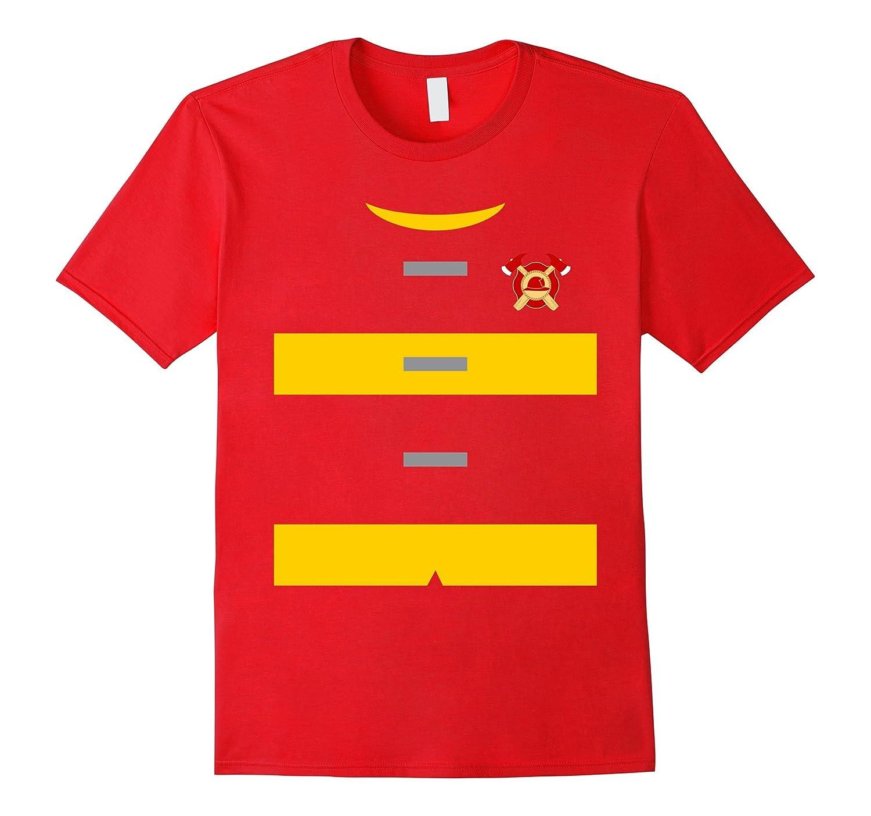 Firefighter Uniform Costume T-Shirt | Fireman Shirt-T-Shirt