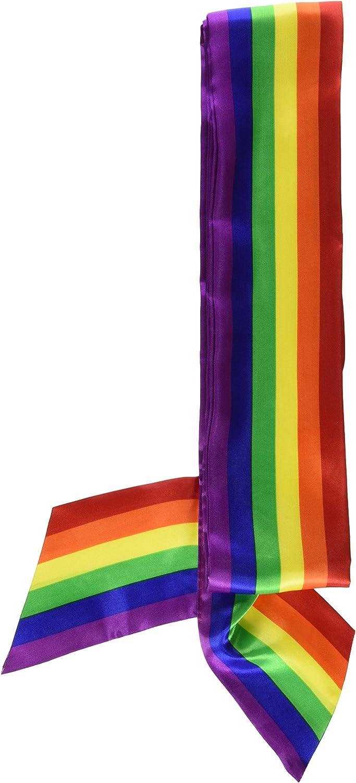 LGBT Gay Pride Sash Rainbow Color Stripes Bx 6 22
