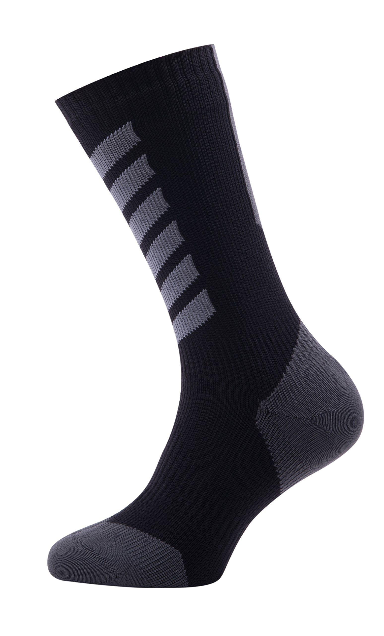 SealSkinz MTB Mid Mid Socks with Hydrostop , X Large - Anthracite/Charcoal/Black. With a Helicase brand sock ring by SEALSKINZ