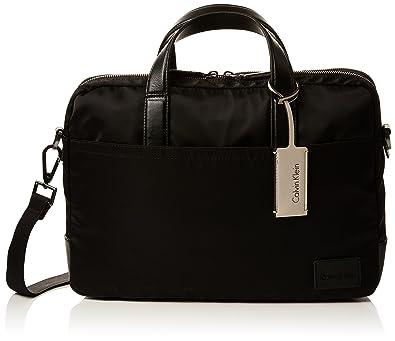 86a59ba771 Calvin Klein Ease Laptop Bag Extra, Sacs pour ordinateur portable homme,  Noir (Black