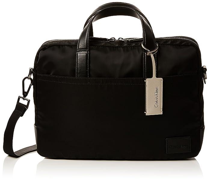 Calvin Klein Ease Laptop Bag Extra, Sacs pour ordinateur portable homme, (Black), 9x25x38 cm (B x H T)