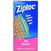 Ziploc Snack Bag Value Pack, 90 count (Pack of 3)