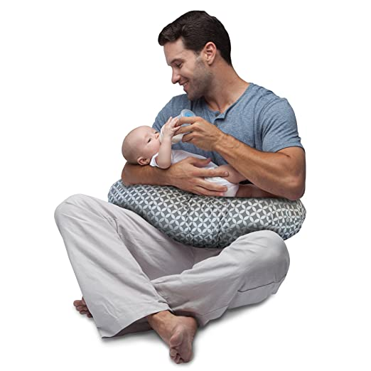 The Boppy Pillow: Boppy Nursing Pillow and Positioner, Gray/White