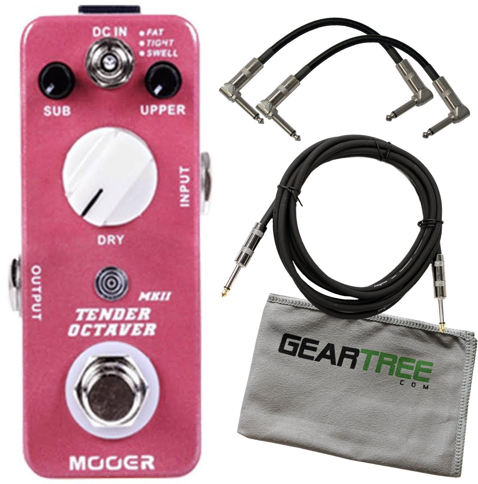 Mooer Tender Octaver MKII Precise Micro Octave Pedal w/ 3 Cables and Cloth by MOOER