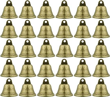 gotyou 30 Piezas Campana Pequeña Vintage,Timbres Vintage de Bronce,Mini Campana Metálica,Accesorios de Campana para Mascotas/Decoración Festiva(38mm): Amazon.es: Instrumentos musicales