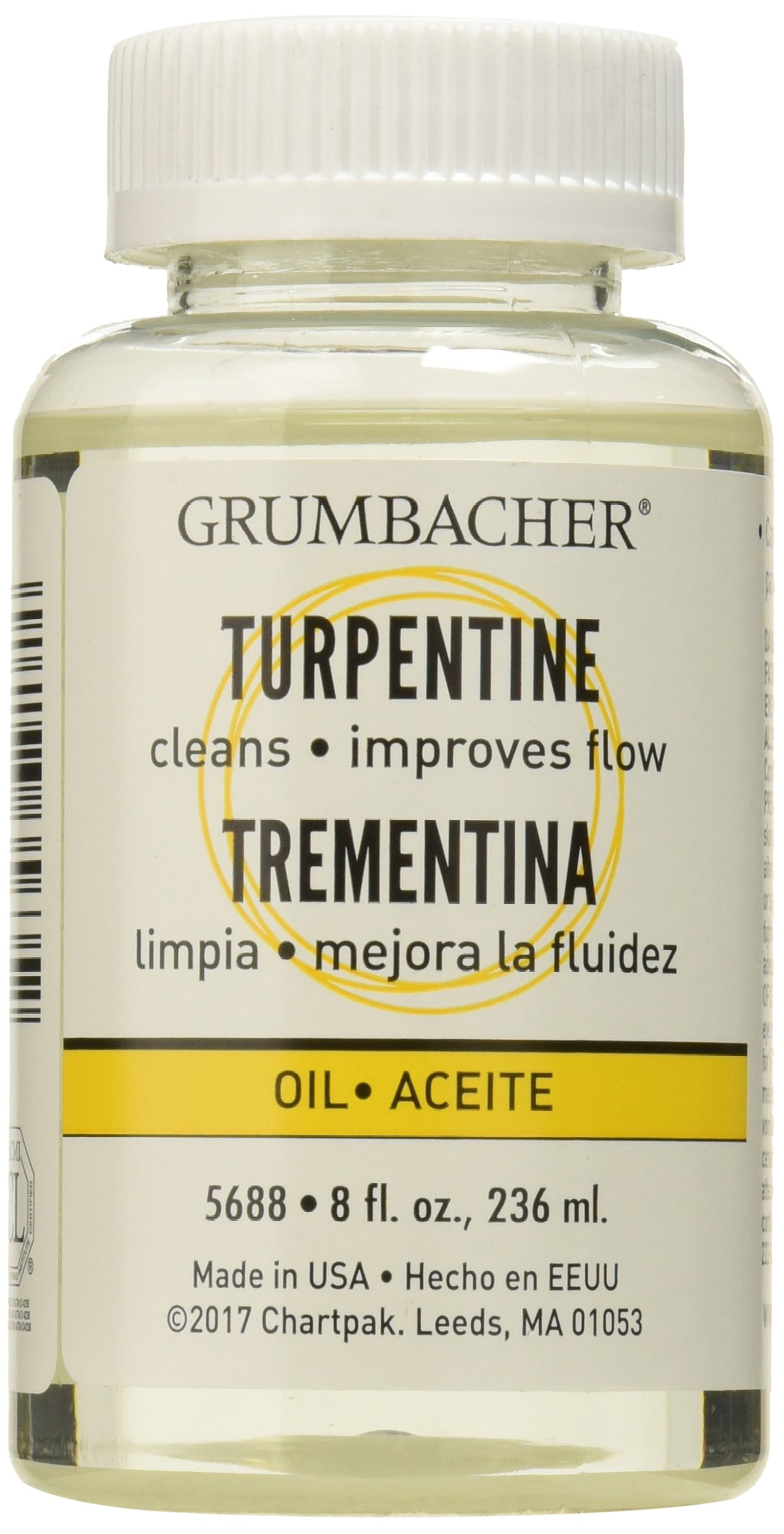 Grumbacher Turpentine, 8 Oz. Can, 5688