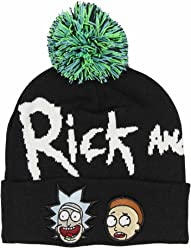 a4e8f21be2d Bioworld Adult Swim Rick and Morty Pom Beanie Black