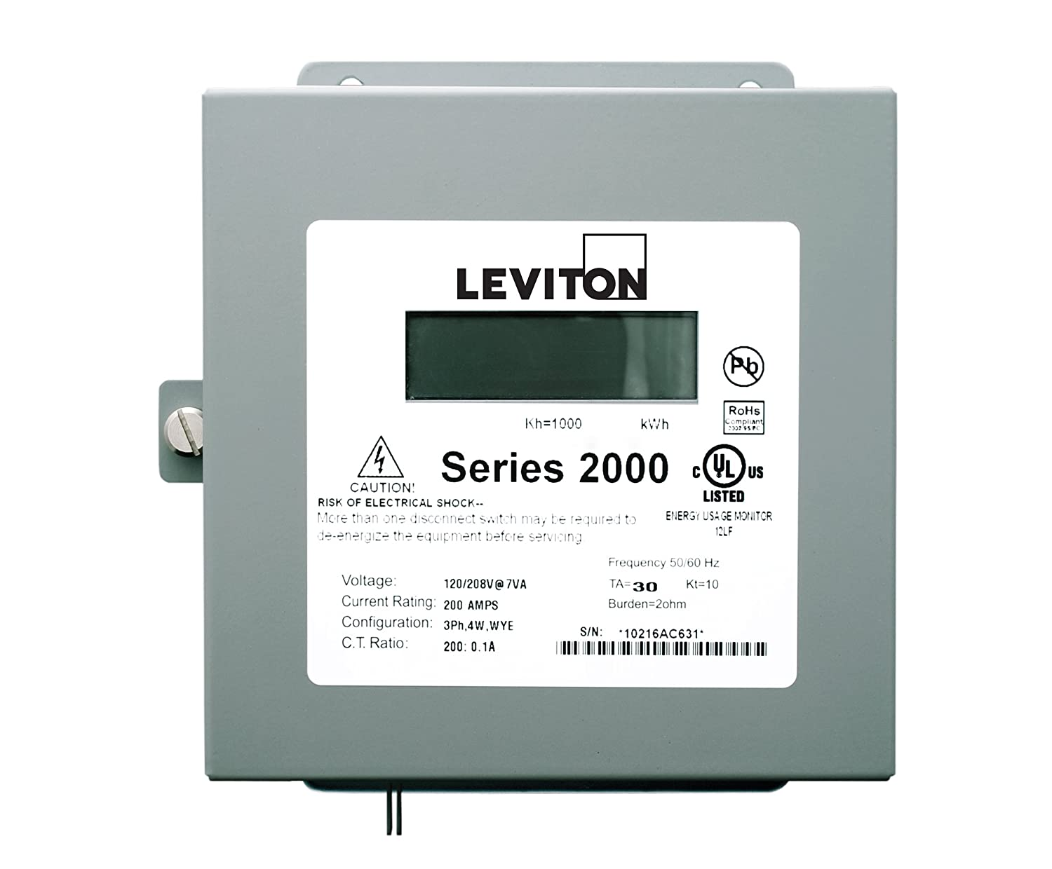 Leviton 2N208-21 Sub-Meter Series 2000 Three Element Meter 200:0.1A ratio,  Max 200A Indoor Surface Mount Enclosure - Electrical Outlet Boxes -  Amazon.com