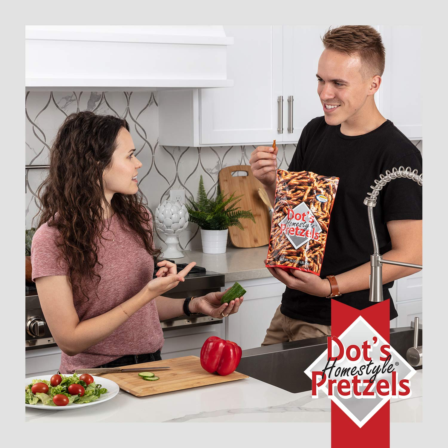 Dot's Homestyle Pretzels 1 lb. Bag (5 Bags) 16 oz. Seasoned Pretzel Snack Sticks (Packaging May Vary) by Dot's Homestyle Pretzels (Image #6)