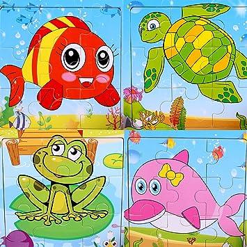 Trasporti insieme di 4 SIPLIV puzzle di legno 9-pezzi di puzzle da 2 a 5 anni i bambini