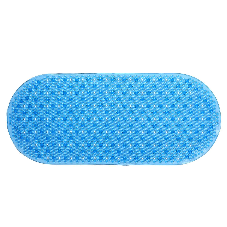 Amazon.com: SlipX Solutions Mildew Resistant Blue Bubble Bath Mat ...
